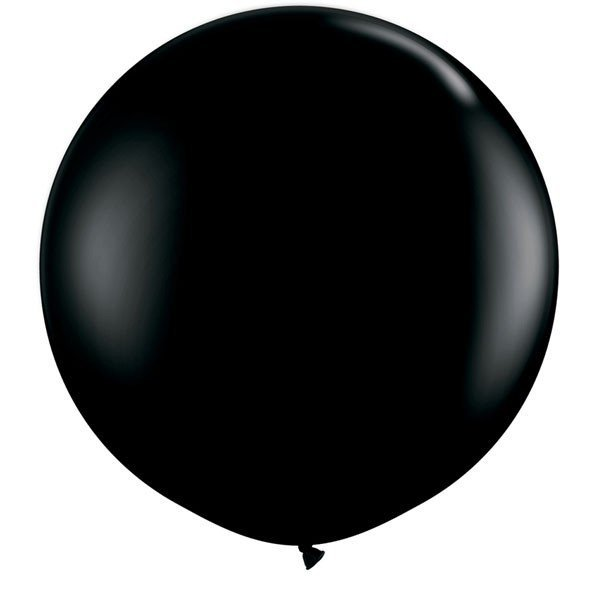 Qualatex 3 Ft Round Plain Latex Balloon - Onyx Black