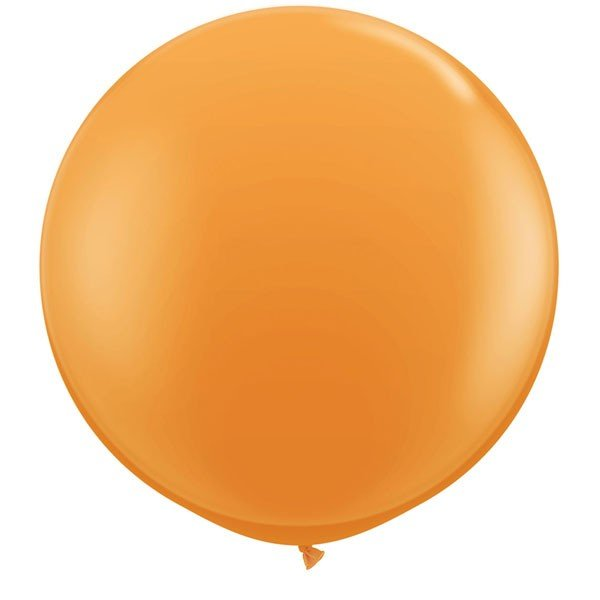 Qualatex 3 Ft Round Plain Latex Balloon - Orange