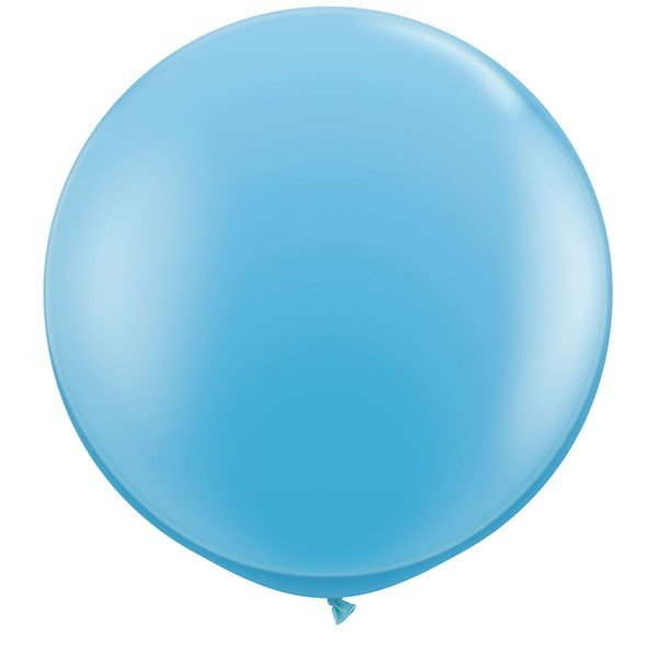 Qualatex 3 Ft Round Plain Latex Balloon - Pale Blue