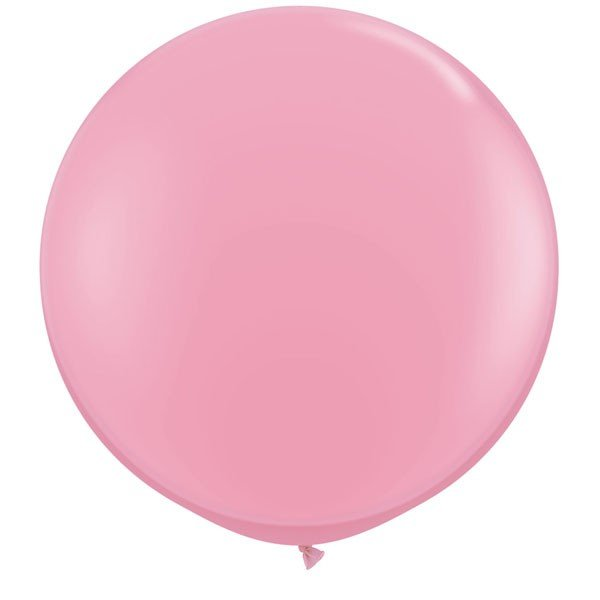 Qualatex 3 Ft Round Plain Latex Balloon - Pink