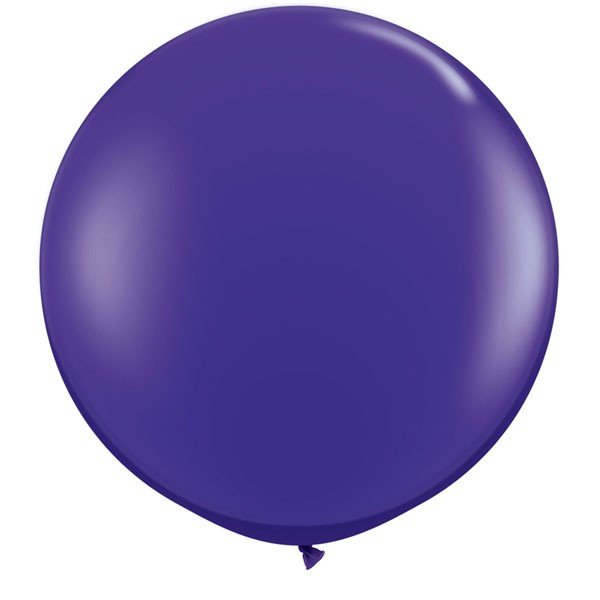 Qualatex 3 Ft Round Plain Latex Balloon - Quartz Purple