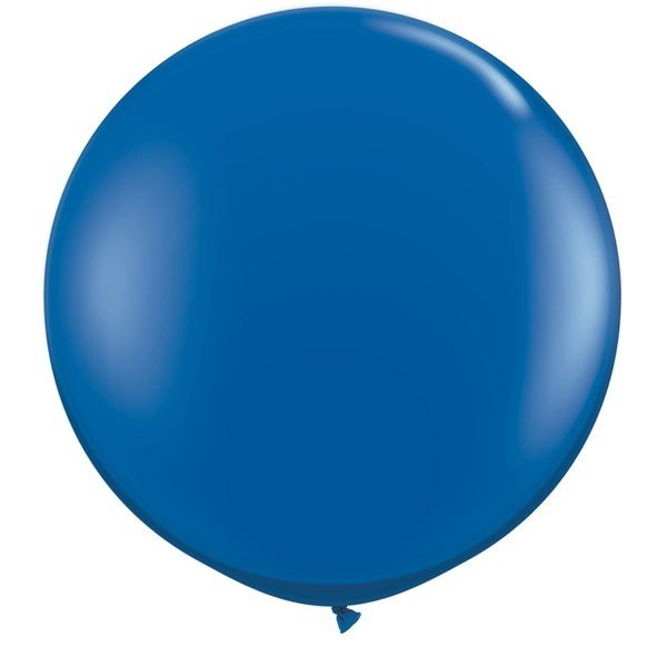 Qualatex 3 Ft Round Plain Latex Balloon - Sapphire Blue