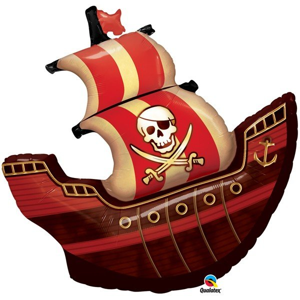 Qualatex 40 Inch Shaped Foil Balloon - Pirate Ship