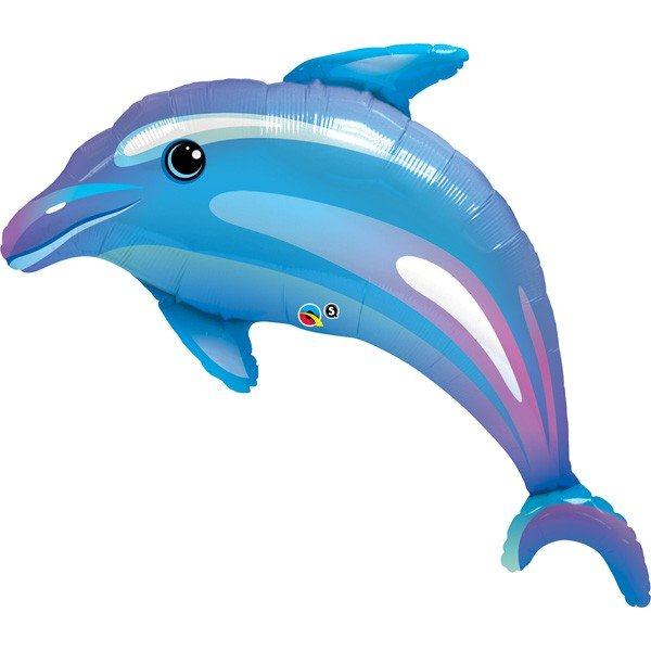 Qualatex 42 Inch Shaped Foil Balloon - Delightful Dolphin