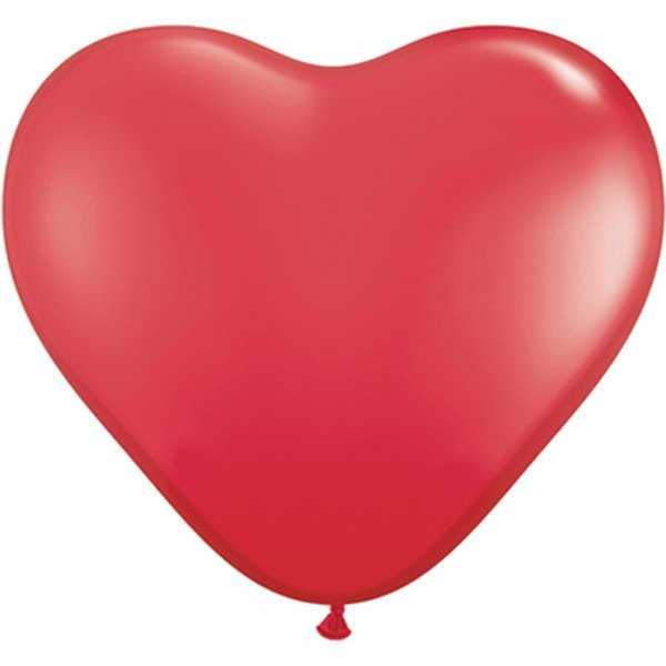 Qualatex 6 Inch Heart Latex Balloon - Red