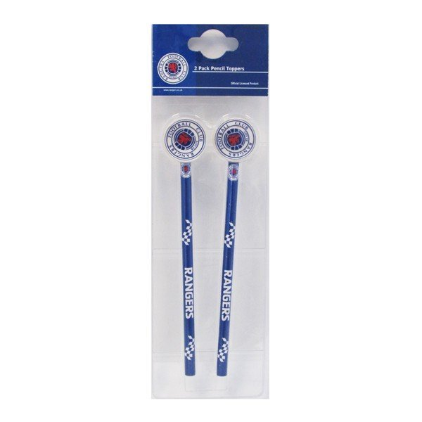 Rangers Big Logo 2PK Pencil & Topper Set