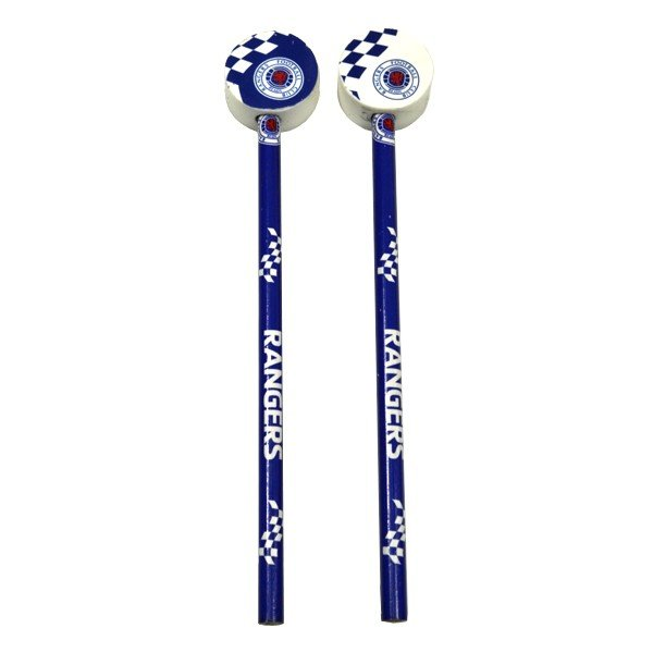 Rangers Checked 2PK Pencil & Topper Set