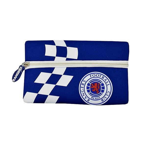 Rangers Checked Flat Pencil Case