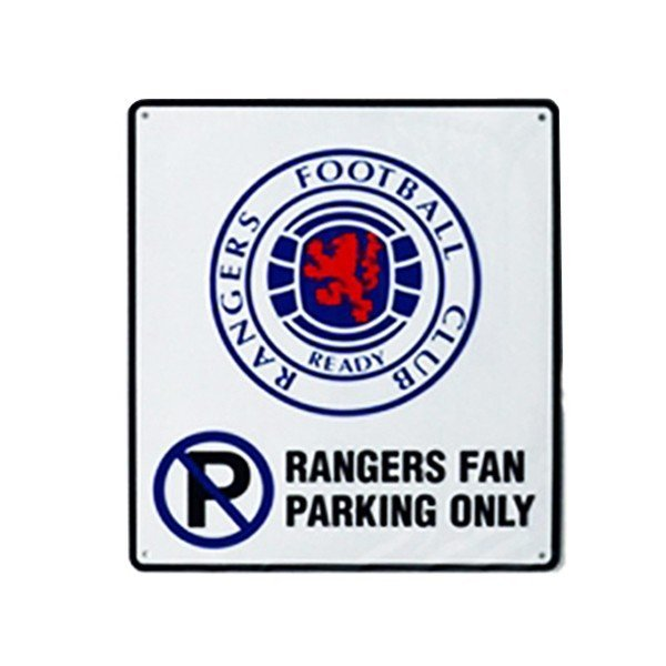 Rangers No Parking Sign