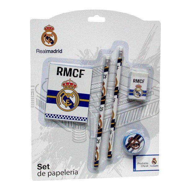 Real Madrid 5 Pc Stationery Set