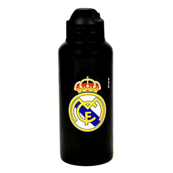 Real Madrid Aluminium Water Bottle - Black