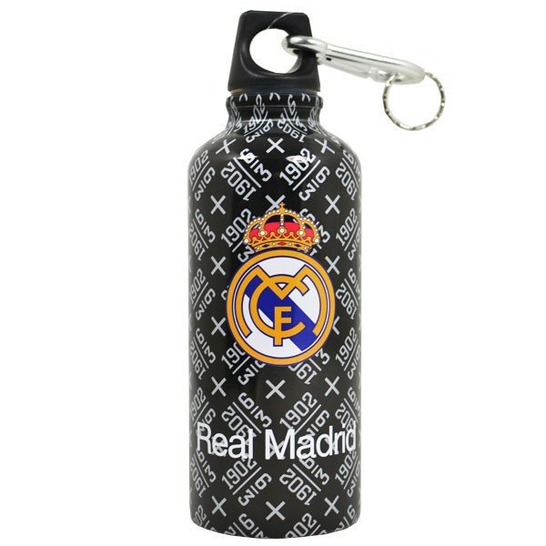 Real Madrid Aluminium Water Bottle - Black Outdoor
