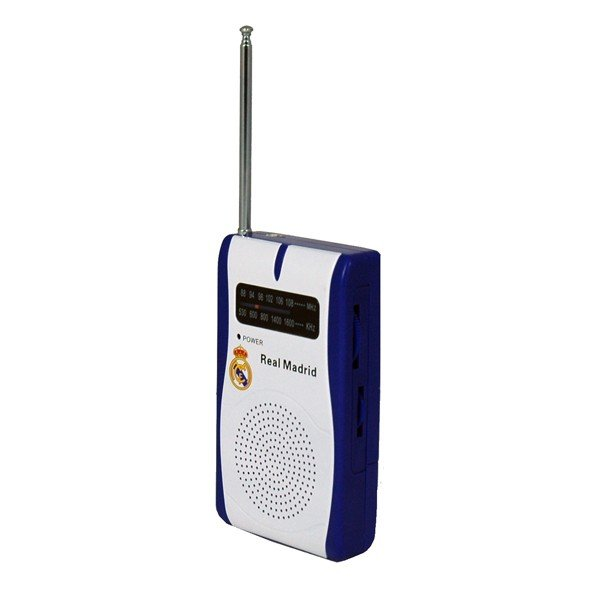 Real Madrid AM/FM Radio - White
