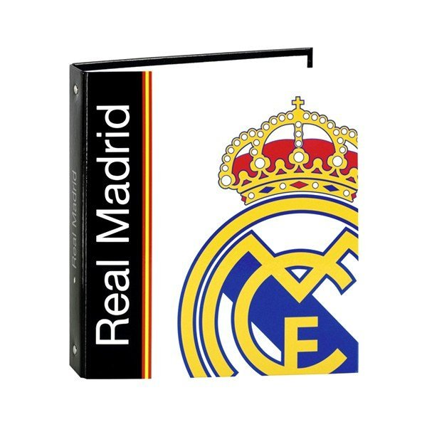 Real Madrid Black Folio A5 Ring Binder - 2PK