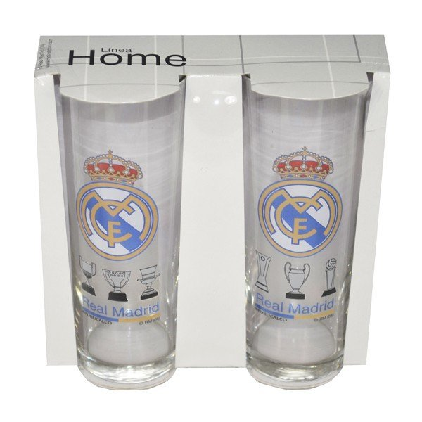 Real Madrid Boxed Glass Tumbler - 2PC