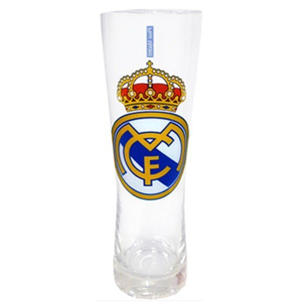 Real Madrid Colour Crest Peroni Pint Glass