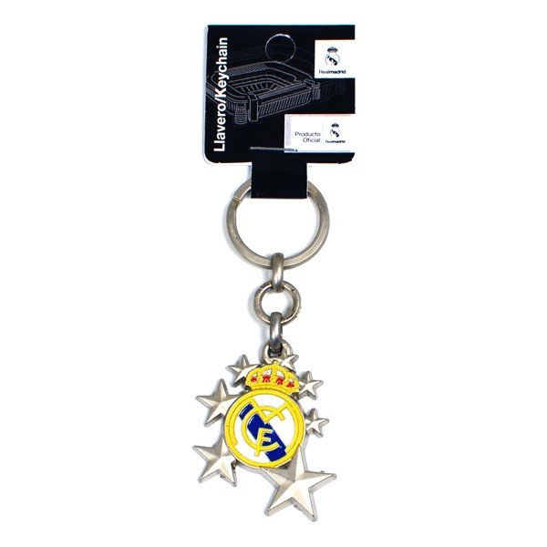 Real Madrid Crest Keyring - Star