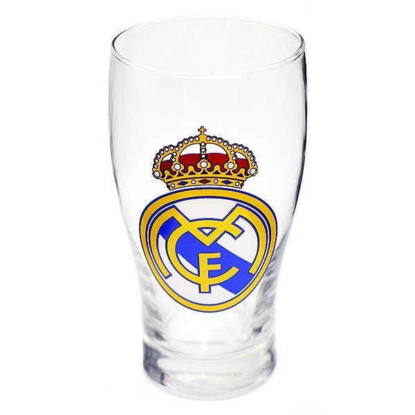 Real Madrid Crest Pint Glass