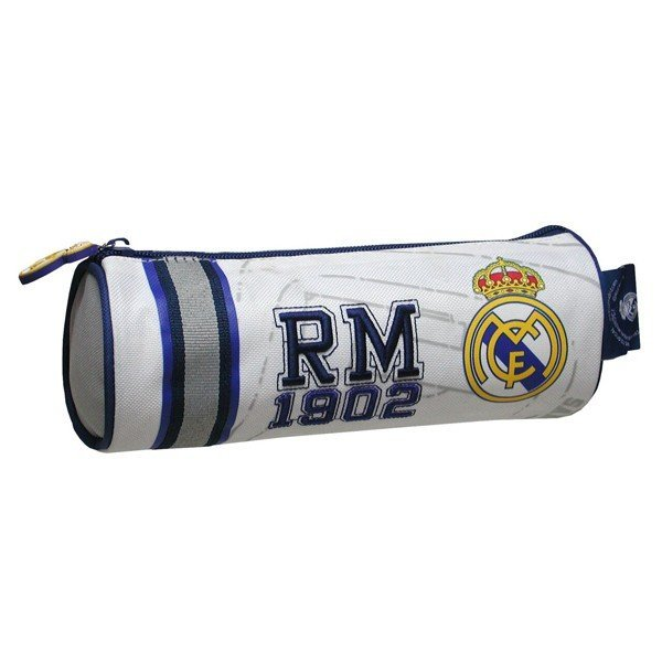 Real Madrid Embroidered Cylindrical Pencil Case