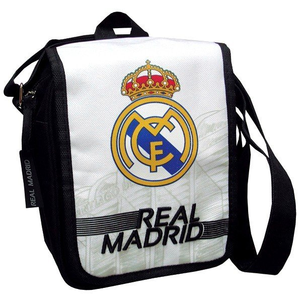 Real Madrid Flap Shoulder Bag - Black/White