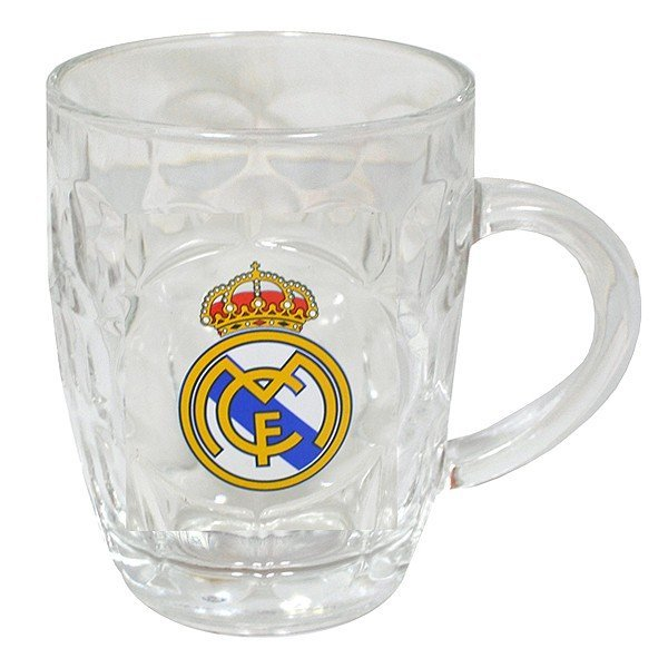 Real Madrid Glass Tankard
