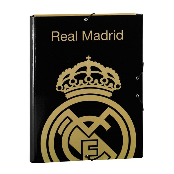 Real Madrid Gold 3 Flaps Folio Cardboard Binder