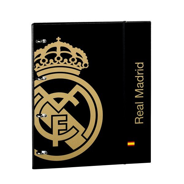 Real Madrid Gold A4 Ring Binder 80 Refill Sheets - 2PK