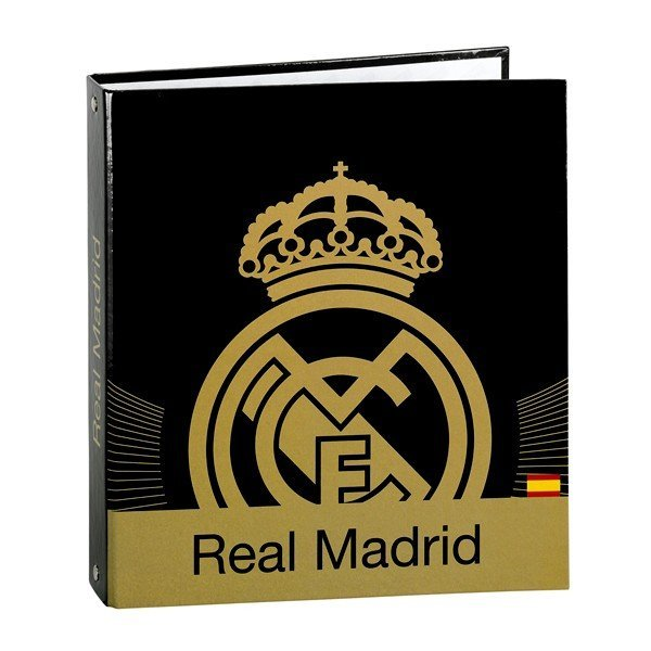Real Madrid Gold A5 Cardboard Ring Binder - 2PK