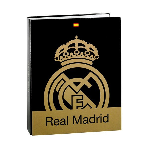 Real Madrid Gold Cardboard Folio Ring Binder - 2PK
