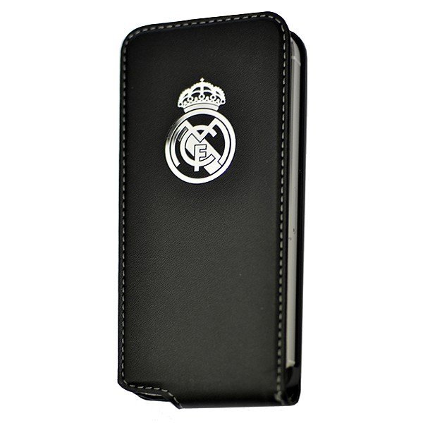 Real Madrid iPhone 5 Flip Case - Black