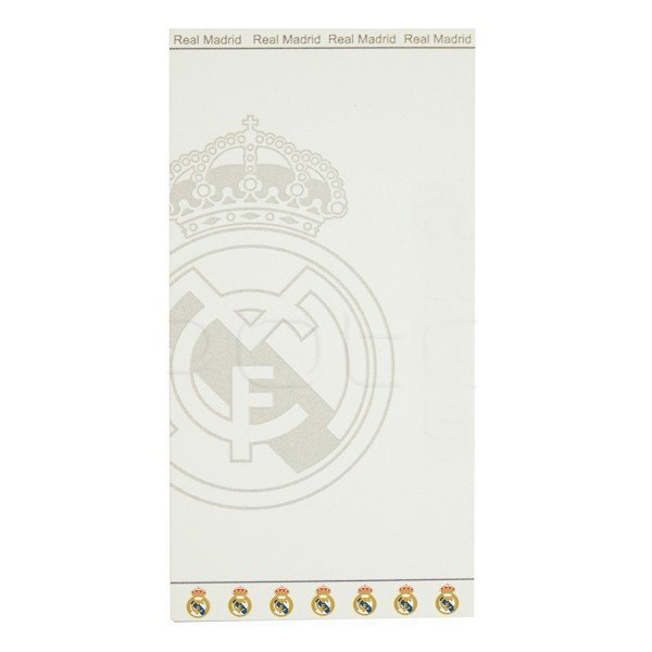 Real Madrid Jacquard Beach Towel - White