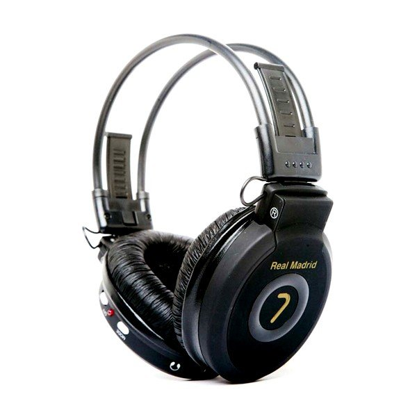 Real Madrid MP3 Headphones - Black