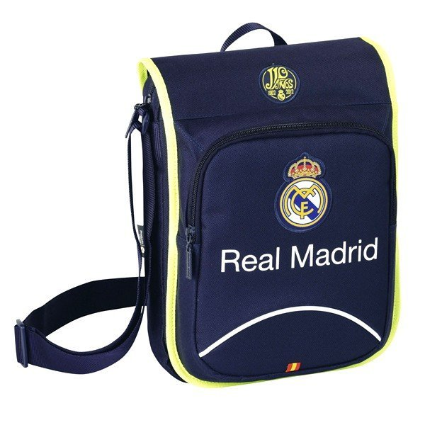 Real Madrid Navy Flap Shoulder Bag - 24Cms