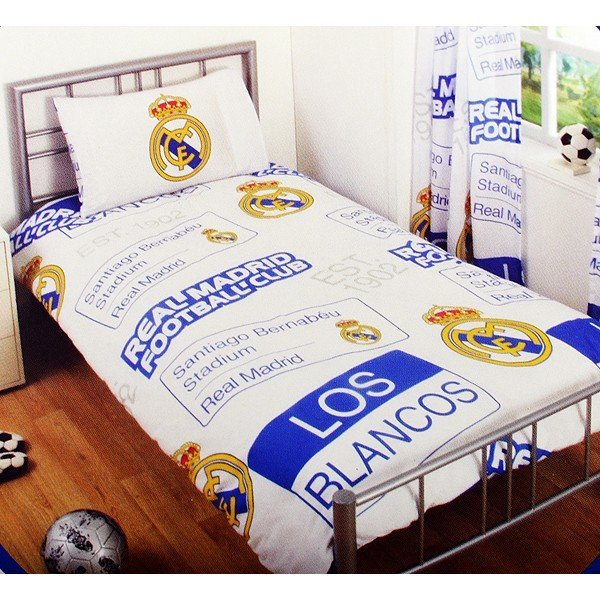 Real Madrid Patch Single Duvet Set
