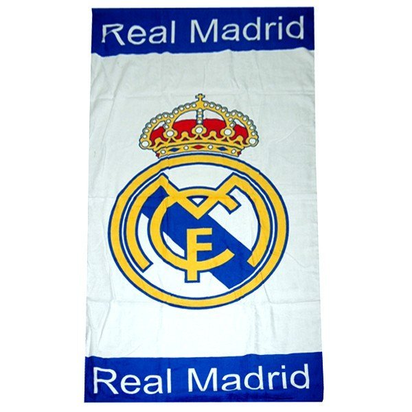 Real Madrid Printed Towel - White