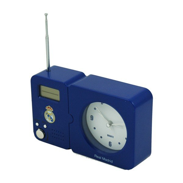 Real Madrid Radio With Clock - Blue
