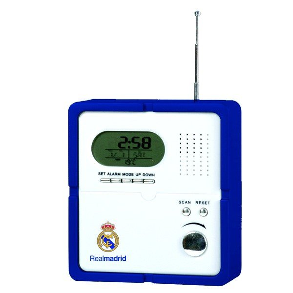 Real Madrid Radio With Digital Clock