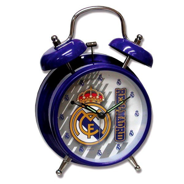 Real Madrid Small Alarm Clock - Blue