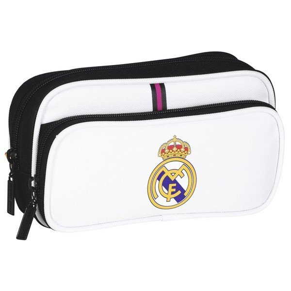 Real Madrid Twin Pocket Pencil Case with Pocket