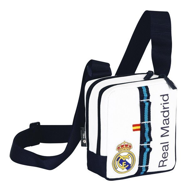 Real Madrid White Mini Shoulder Bag - 14 Cms