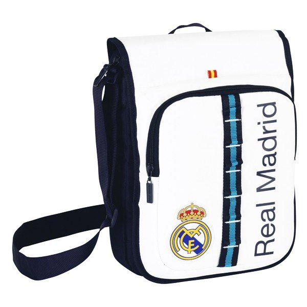 Real Madrid White Shoulder Bag - 24 Cms
