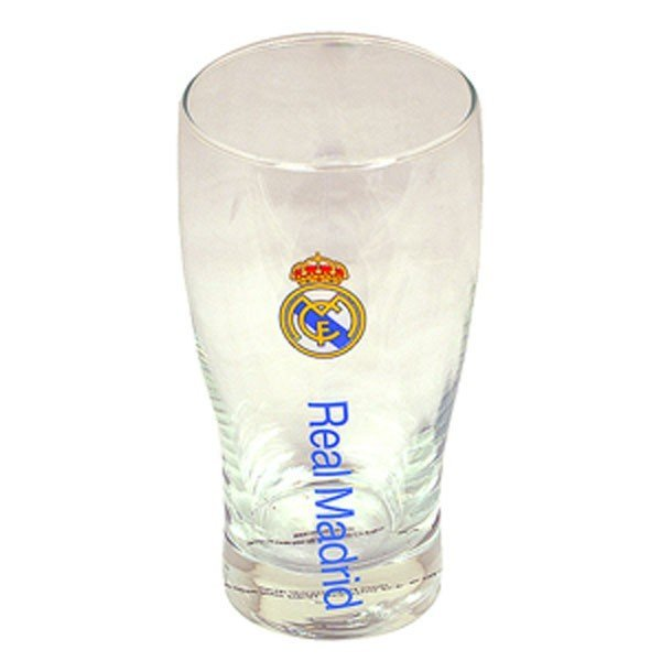Real Madrid Wordmark Crest Pint Glass