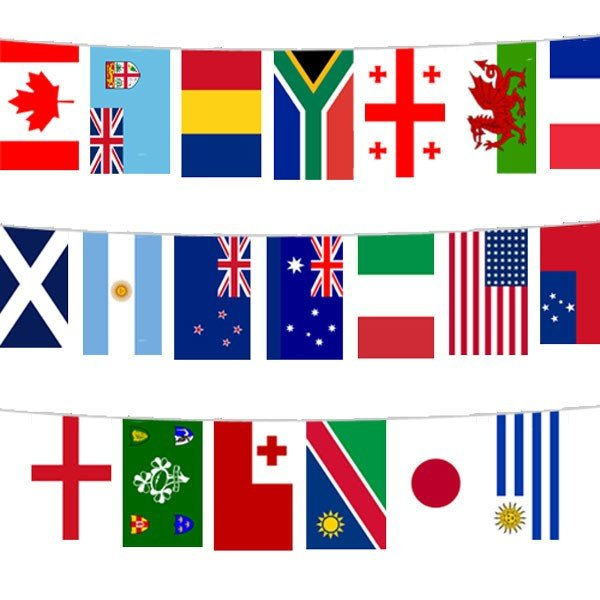 Rugby World Cup 6M Polyester Bunting (20 Flags)