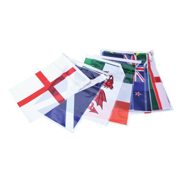 Rugby World Cup 7M Plastic Bunting (25 Flags)