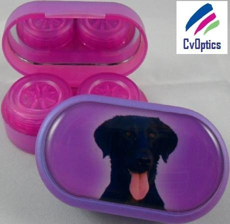 Labrador Furry Friends Contact Lens Soaking Case