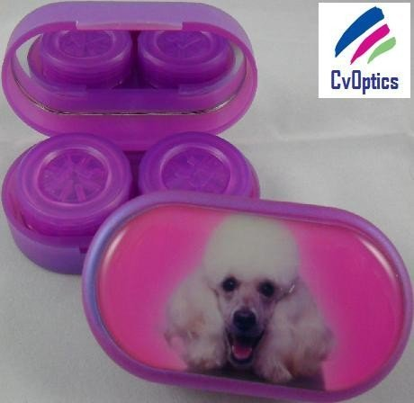 Poodle Furry Friends Contact Lens Soaking Case