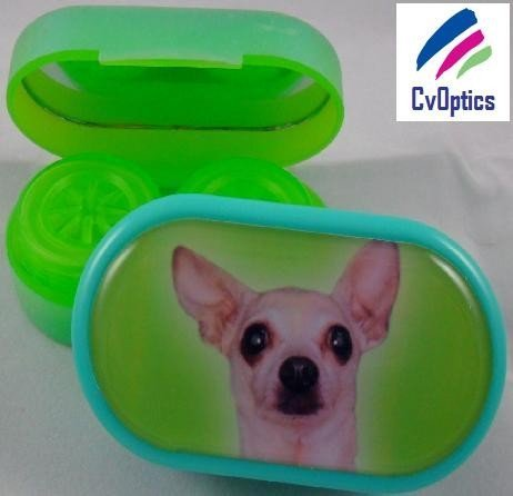 Chihuahua Furry Friends Contact Lens Soaking Case