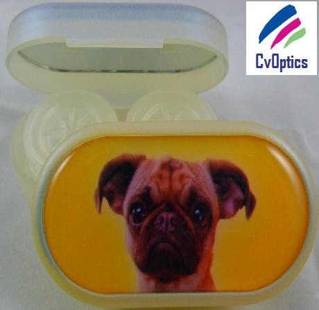 Pug Furry Friends Contact Lens Soaking Case