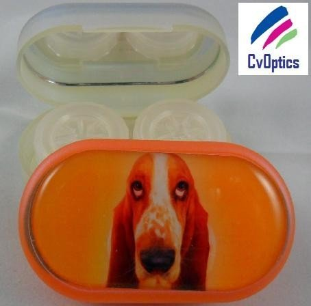 Basset Hound Furry Friends Contact Lens Soaking Case