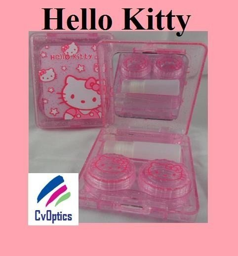 Pink Hello Kitty Contact Lens Travel Kit With Mirror